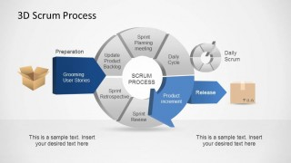 3D Agile Scrum PowerPoint Diagram Process