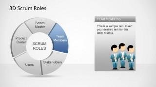 3D Agile Scrum Roles PowerPoint Diagram Team Members
