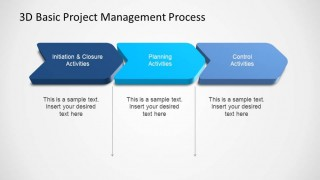 3D Basic Project Management PowerPoint Stages