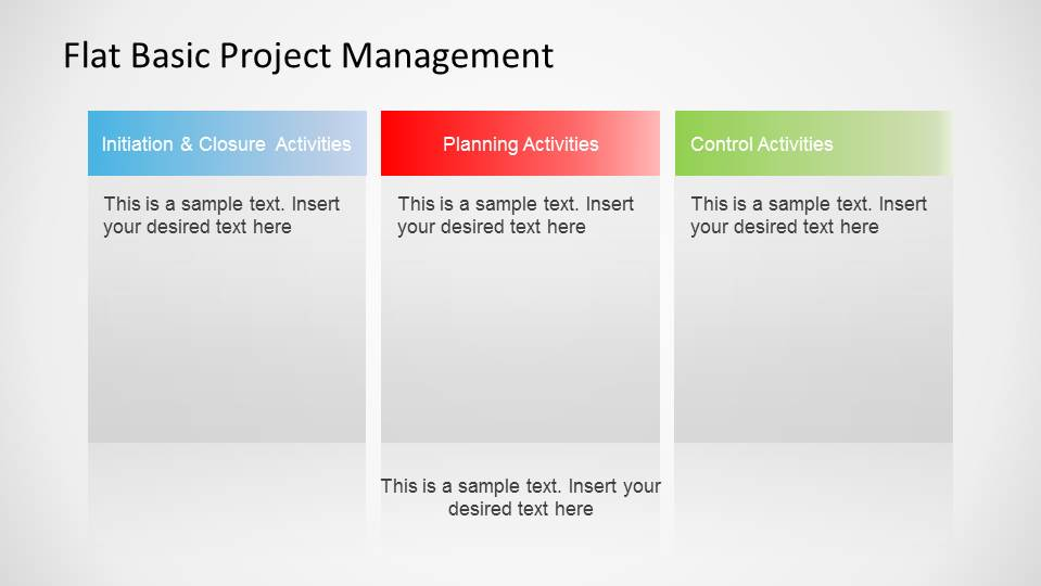 Basic Project Management Process Powerpoint Template – Dibujos Para