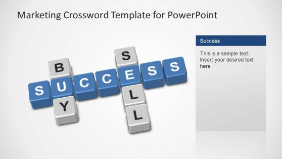 Marketing Crossword PowerPoint Template Buy, Sell, Success