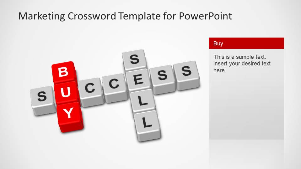 Scrabble crossword forming buy, sell and success words