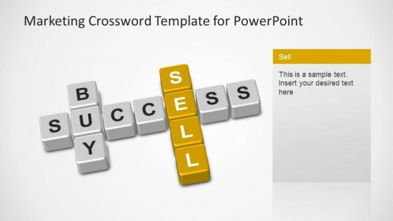 Marketing Crossword PowerPoint Template Sell