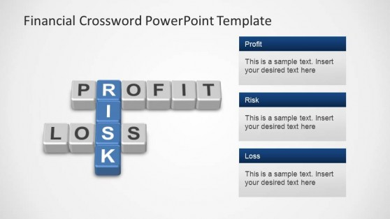Financial Crossword for PowerPoint  P&L