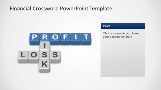 Financial Crossword PowerPoint Template Profit