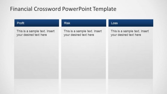 Financial Crossword PowerPoint Template Descriptions