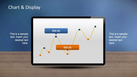 Line Chart Dashboard PowerPoint Template