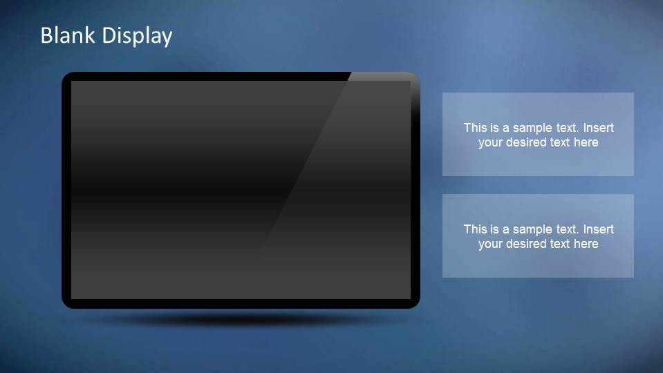 PowerPoint object dark background monitor for edition