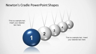 Perspective Spheres of PowerPoint Newtons Cradle