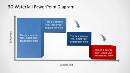 3D Generic Waterfall PowerPoint Diagram 3 Phases
