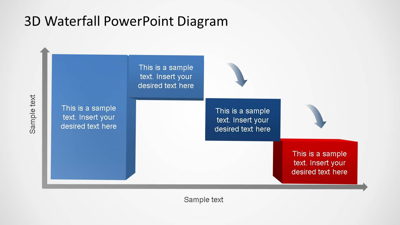 3d generic waterfall powerpoint diagram 3 phases slidemodel pooptronica Image collections