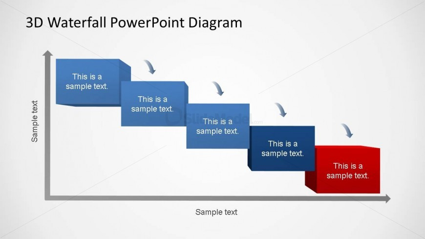 3d generic waterfall powerpoint diagram 5 phases slidemodel waterfall process diagrams with 5 phases ccuart Choice Image