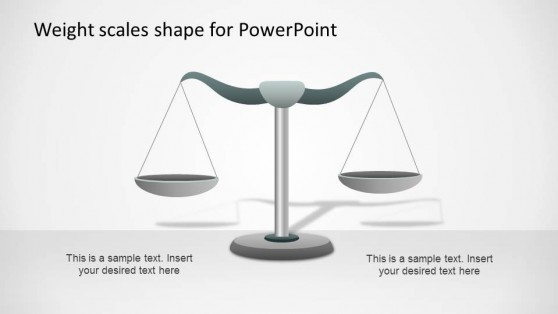 Weight Scale PowerPoint Shape Equilibrium