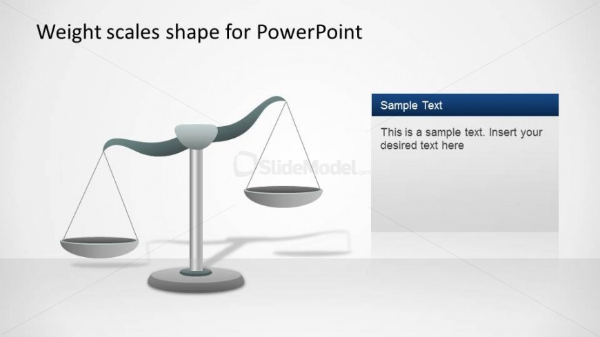 Scale Shape for PowerPoint with Left Inclination