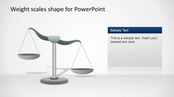 Weight Scale PowerPoint Shape Right Inclination