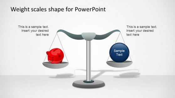 Weight Scale PowerPoint Shapes with Piggy Safe