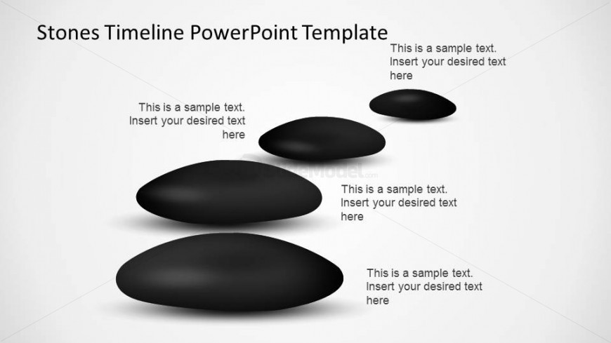Roadmap created with PowerPoint Stones representing a Timeline.