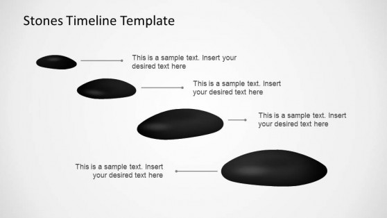 Stones Timeline PowerPoint Template linear milestones