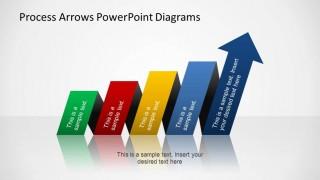 Colorful Process Arrows PowerPoint Diagram with horizontal funnel shape.