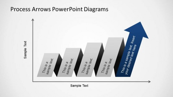PowerPoint Diagram Axis Process Arrows