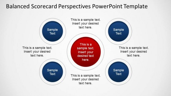 Circular Shapes for PowerPoint Balanced Scorecard