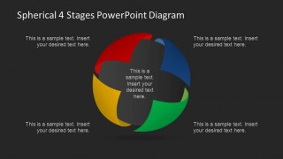 Dark Background 3D Sphere PowerPoint Diagram