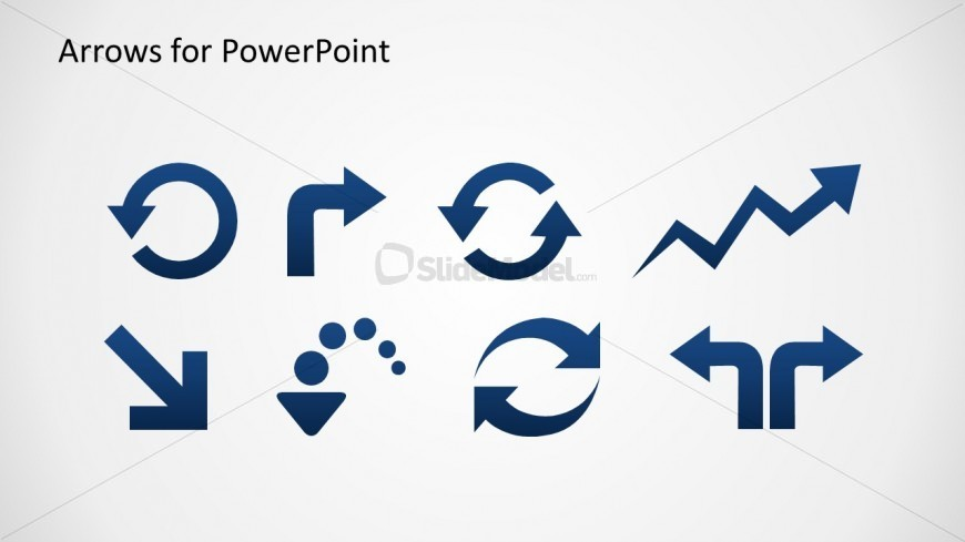 arrow icons toolkit for powerpoint slidemodel