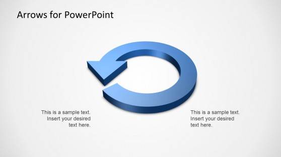 3D Circular Arrow Diagram Template for PowerPoint