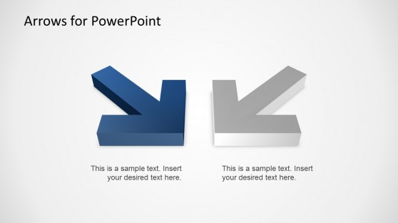 Amazing Two 3D Arrows for PowerPoint