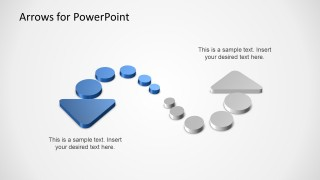 3D Arrows with Dots for PowerPoint