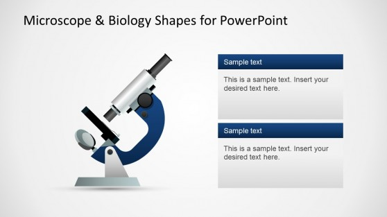 Microscope Illustration for PowerPoint