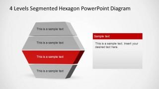 Red Highlight Third Layer in PowerPoint Hexagonal Diagram