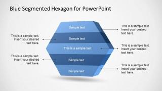 Hexagonal Five Steps PowerPoint Shape
