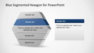 3D Segmented Hexagonal PowerPoint Diagram