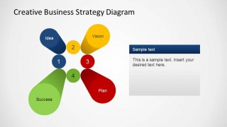 Colorful 3D Pillars for Business Strategy PowerPoint Presentations