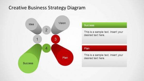 Business Strategy Creative 3D Pillars PowerPoint Diagram