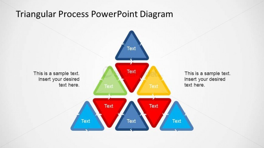 Tirangle Shape composed of 8 Triangular Process PowerPoint diagrams