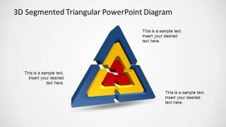 3D Triangular Segmented Diagram for PowerPoint