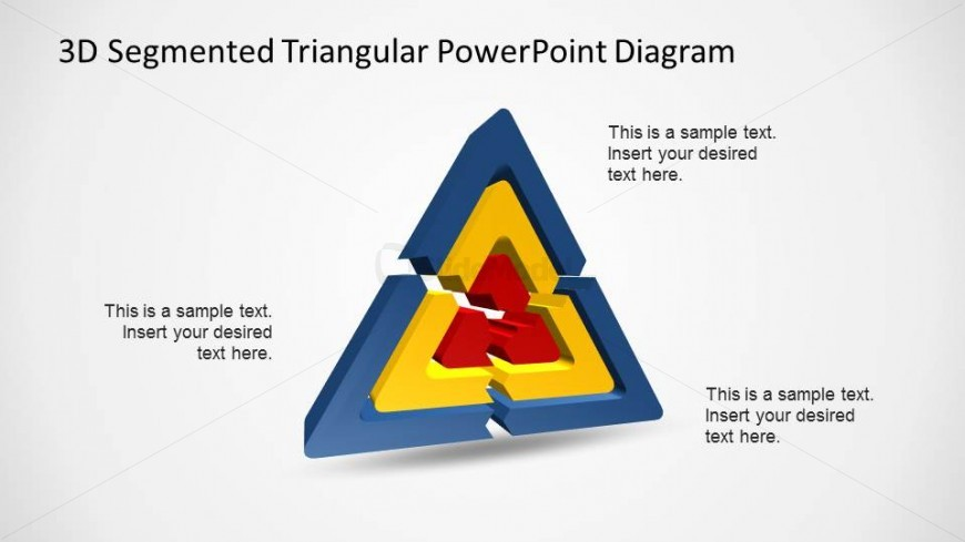 3D Triangular Segmented Diagram for PowerPoint