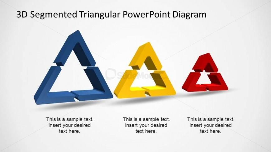 Three 3D Triangular Process Shapes in a Row