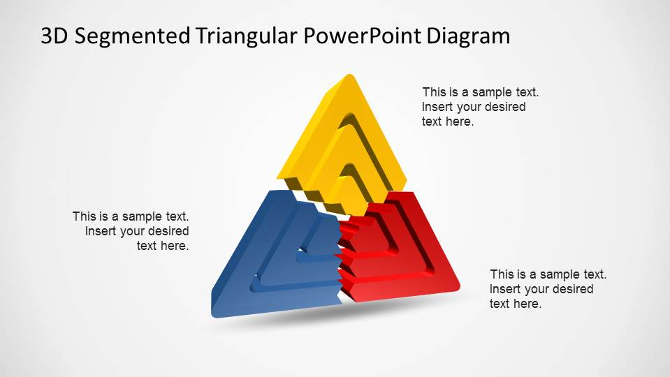 3D Triangular Concentrical Shapes for PowerPoint