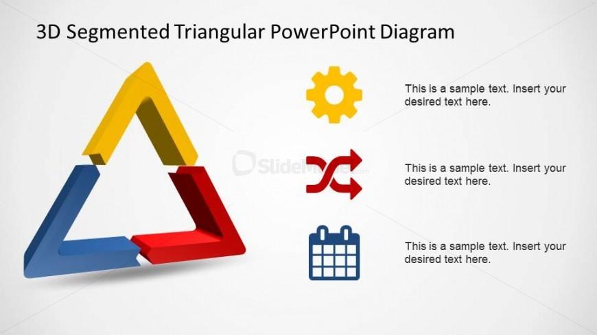 3D Segmented Triangular Billiard Rack with Flat Icons.