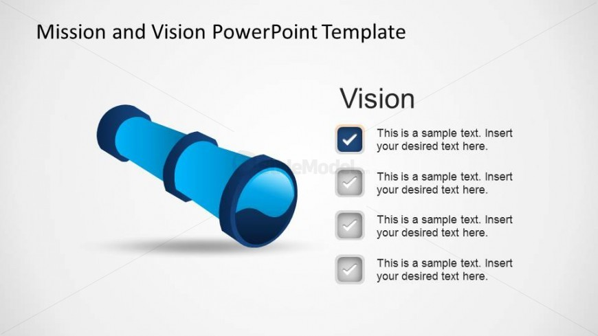 Vision Metaphor Telescope PowerPoint Shape