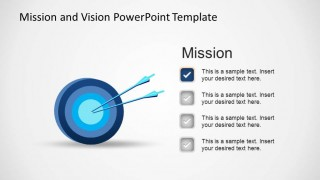 Mission Statement Metaphor Target PowerPoint Shape