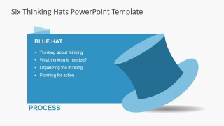 Blue Thinking Hat for PowerPoint