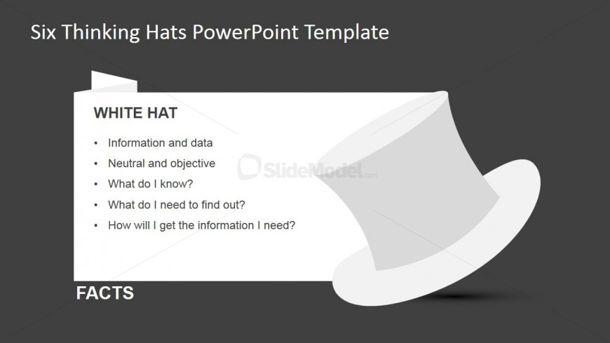 White Thinking Hat for PowerPoint