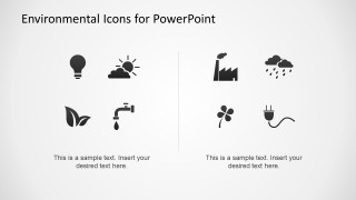 Flat Environmental Icons for PowerPoint