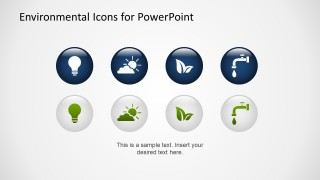Flat Environmental PowerPoint Icons 3D Effect
