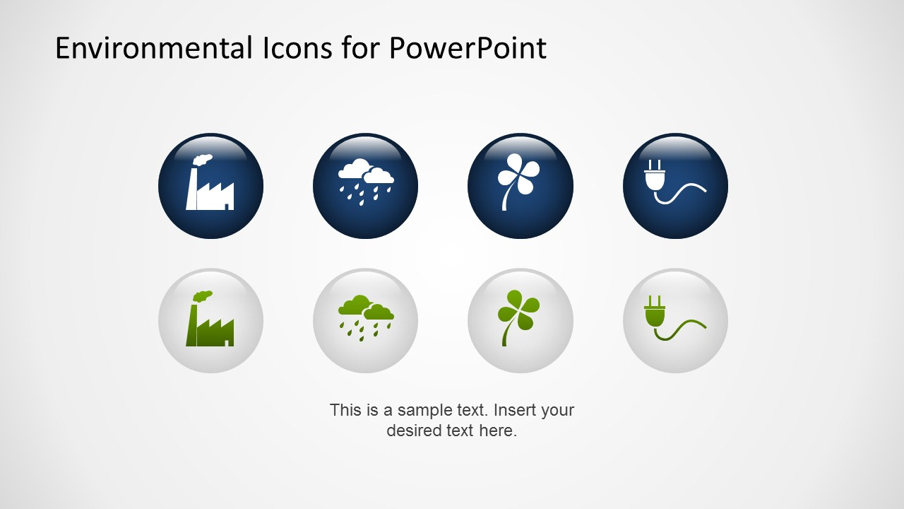 Creative Environmental PowerPoint Icons 3D Effect