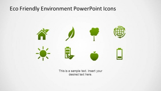 Green Gradient Flat Eco Friendly PowerPoint Icons